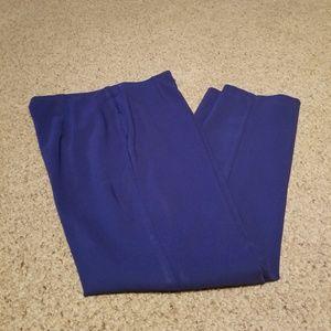 Cobalt blue stretch dress pants